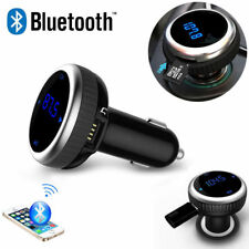 Bluetooth Wireless Audio FM Transmitter Dual USB Car Charger MMC TF MP3 Player