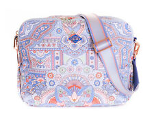Oilily Simply Ovation Shoulder Bag S Schultertasche Tasche Sky Blue Blau Rosa