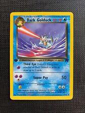 Pokemon Dark Golduck 1st Edition Team Rocket Eng #37/82 M (T)