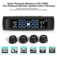 Solar LCD Auto Reifendruckkontrollsystem Wireless TPMS + 4 Externe Sensoren