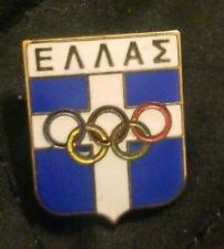Olympic 1990s Undated Noc Greece Hat Lapel Pin
