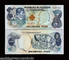 PHILIPPINES 2 PESO P-152 a 1978 RIZAL FLAG UNC * REPLACEMENT MONEY BILL BANKNOTE