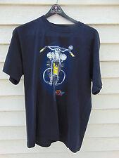 Vintage J&P Cycles Yellow motorcycle bike T-Shirt Mens Large black 100% Cotton