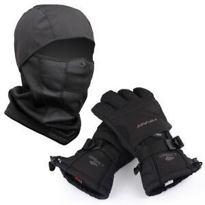 Waterproof Ski Gloves & Winter Warm Snowboard Thermal Mask Motorcycle Snow Men