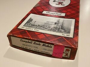 HO Scale Campbell Scale Model Quicks Coal Building Kit #386-2495