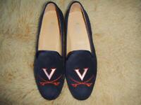 $400+ UVA University of Virginia Cavalier Wahoos Hoos Mens Navy Blue Suede Shoes