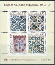Portugal - Azulejos Block 33 postfrisch 1981 Mi. 1528+1535+1539+1548