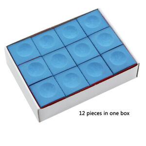 Pool Cue Tip Chalk billiards Cue CHALK Blue 12/24/36 PCS Snooker