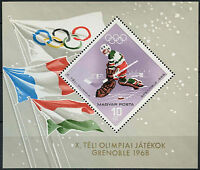 Hungary 1967 SG#MS2334 Winter Olympic Games MNH M/S #D2577