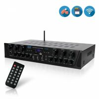 Pyle PTA66BT 6 Ch. Bluetooth Audio Amplifier 600W Receiver System with FM Radio