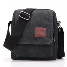 Men Casual Style Canvas Shoulder Messenger Bag Denim Handbag Crossbody Zip Bags