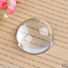 Big Magnifying Glass Paperweight Dome Magnifiers Semi Crystal Ball 80mm AAA