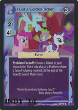 MLP My Little Pony INDY '14 Promo FOIL I Got the Golden Ticket! #Pf12 'NM!