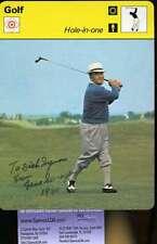 Gene Sarazen Signed Jsa 1977 Sportscaster Authentic Autograph