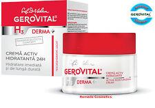 Gerovital H3 Derma+ Active Moisturizing Cream, Hypoallergenic Paraben free