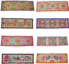 Indian Embroidered Ethnic Suzani Cotton Tapestry Wall Hanging Table Bed Runner