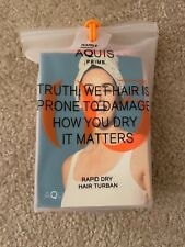 New Aquis 03 Prime Rapid Dry Waffle Hair Turban Dried Hair Quickly Gently- Pink