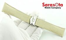 22mm/18mm Deployment Clasp Watch Band Tag Heuer Ivory Crocodile Leather