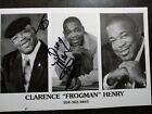 FROGMAN HENRY Authentic Hand Signed Autograph 6X8 Photo - BLUES LEGEND