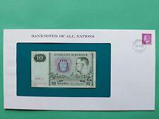 1979 Sweden 10 Kronor Franklin Mint Banknote Cover SNo46198