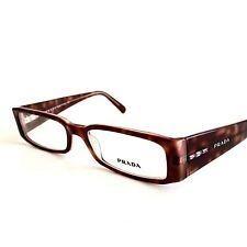 Prada Eyeglasses VPR10F 10F Brown Lavender 3BA-1O1 Authentic 51mm with Case