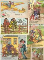 Different Theme People Funny Plain And More Postcard Lot of 15 - 01.05