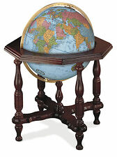 Replogle Statesman Illuminated 20 Inch Floor World Globe - Blue Ocean