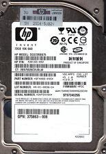 Seagate HP 72GB SAS ST973402SS HP p/n: 430165-002 s/n: 3NP... f/w: HPDC 1903