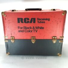 Small, Red & Black, Rca, Vintage Radio Tv Vacuum Tube Valve Caddy Carrying Case