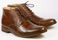 """Brown Men's Lace Up Cap Toe Dress Ankle Chukka Boots """" PREOWNED """""""
