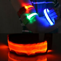 LED Light-Up Flashing Safety Reflective Arm Band For Cycling Running Jogging G6A