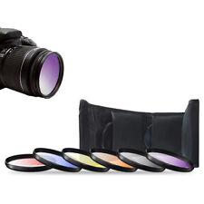 52mm 6pc Gradual Color Filter Kit For Nikon 18-55mm AF-S 55-200mm 50mm f/1.8D