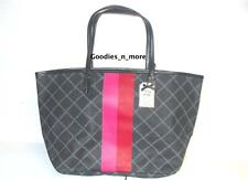 New Victoria's Secret Very Sexy Black tote handbag with pink & red stripes