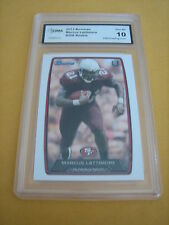 MARCUS LATTIMORE 49ERS 2013 BOWMAN ROOKIE RC# 208 GRADED 10