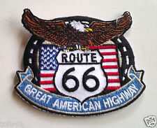 ROUTE 66 GREAT AMERICAN HIGHWAY  Biker Patch PM3179 EE