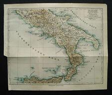 Antica Stampa Topografica. ITALIA Del Sud. SICILIA.1902