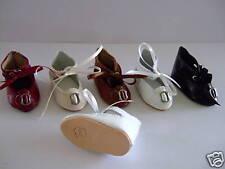 scarpe di cuoio per BAMBOLA ANTICHE DOLL SCARPE-JU6 (5.3cm) G.BRAVOT-FRANCE