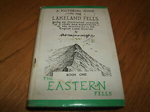 ALFRED WAINWRIGHT-THE EASTERN FELLS-SIGNED-8TH IMP-EARLY 60'S-G-ULTRA RARE