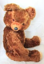 "Antique 1930 American Ideal Mohair Teddy bear 23"" rubber nose"