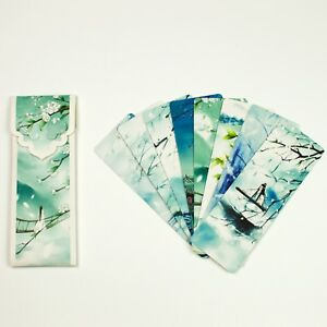 Pack of 8  paper bookmarks of Chinese scenery #B0016