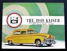 ORIGINAL 1949 KAISER SPECIAL AND DELUXE SALES FOLDER ~ 18 X 24 INCH POSTER ~ K49