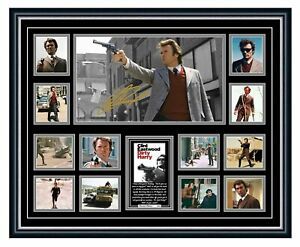 DIRTY HARRY CLINT EASTWOOD SIGNED LIMITED EDITION FRAMED MEMORABILIA