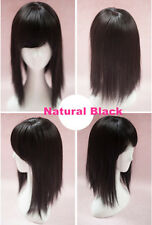 Silk Synthetic hair Topper Piece Straight With Bang Toupee Very Natural Closure