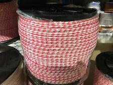 WATER SKI ROPE 8mm x 150m REEL. NEW RED/WHITE  U.V. STABILISED. AUST SELLER