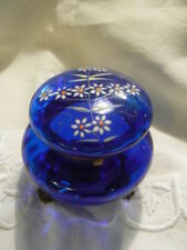 France Blue Date-Lined Glass