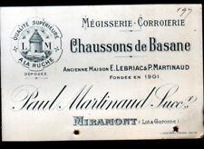 "MIRAMONT (47) USINE de CHAUSSONS en BASANE ""E. LEBRIAC & Paul MARTINAUD"" en 1914"