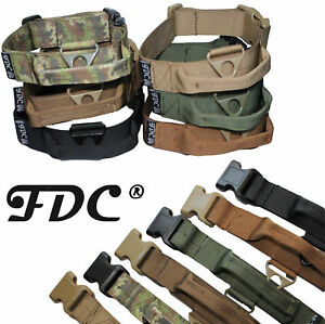 Tactical Dog Collar with Handle Heavy Duty Working Training Plastic Buckle Width