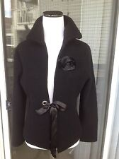NEW Women's BB Dakota Black Wool Jacket/Cardigan- size S