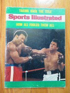 MUHAMMAD ALI and GEORGE FOREMAN Sports Illustrated 11/11/74 Magazine No Label