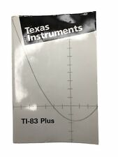 Ti-83 Plus Graphing Calculator Guidebook Manual Only Fast Ship